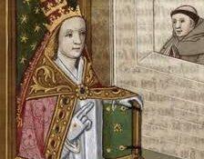 Päpstin Johanna nach einer Handschrift des Bocaccios De Mulieribus Claris
